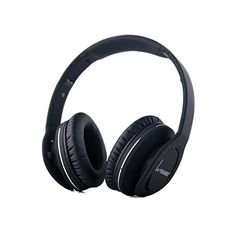 PowerLead Baud PLV8800N VEGGIEG Foldable Stereo Bluetooth Headphones V40  EDR Bluetooth Headsets NFC Multipoints Wireless Headphones with Mic 35mm Cable Black -- Check out the image by visiting the link.