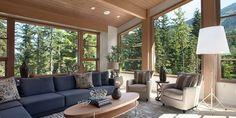 My absolute dream living space. Beautiful custom windows // Kadenwood Resort