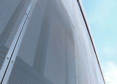 Metal Mesh Architectural exterior facade. Ventilated facade