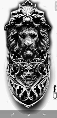Tiger Tattoo Sleeve, Full Sleeve Tattoo Design, Best Sleeve Tattoos, Leg Tattoos, Arm Tattoo, Body Art Tattoos, Cool Chest Tattoos, Badass Tattoos, Tattoo Design Drawings