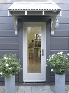 Benjamin Moore's Iron Mountain is a good choice for a gray exterior color.