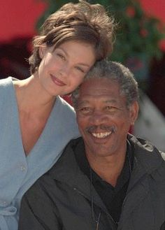 Ashley and Morgan Freeman. I love her hair style!  Says Julie :)