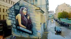 Street Artist Alice Pasquini On The Magic Of Creating Art In Public Spaces - This mural by Alice Pasquini can be found in Moscow