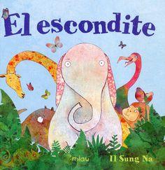 Album ilustrado que enseña a los niños a contar del 1 al 10. En la selva un grupo de animales juega al escondite. El elefante cuenta y el resto se esconden. Después tendrá que buscarlos y los encontrará a todos menos al camaleón...