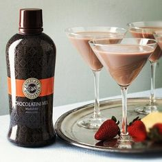 1/2 cup of all of the ingredients hazelnut creamer, pinnacle whipped vodka, milk and the chocolate martini mix