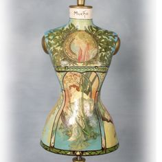 Mucha painted mannequin torrso. So beautiful!  LadyLimoges