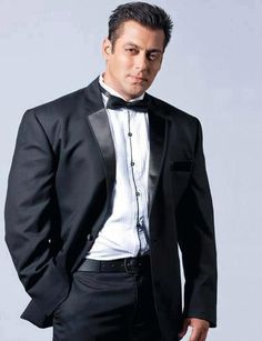 Salman Khan looking handsome in a classic tuxedo.