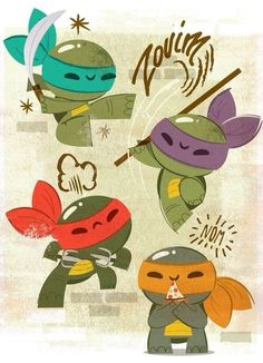 Cute Teenage Mutant Ninja Turtles wallpaper