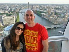 London skyline visto do London Eye! Em pânico, mas feliz!