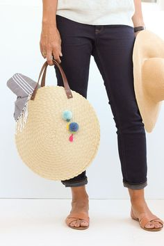 DIY Circle Beach Bag