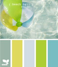 beach ball color, palette by design seeds Colour Pallette, Color Palate, Colour Schemes, Color Combos, Color Patterns, Design Seeds, Palette Design, Kitchen Colors, Kitchen Grey