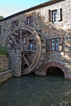 Photograph The White Mill I by Diego Luci on Tuscany, Siena, Chiusdino, Merse, Toscana: Beautiful Buildings, Beautiful Places, Old Grist Mill, Water Powers, Water Mill, Visit Italy, Tuscany Italy, Siena Italy, Old Barns