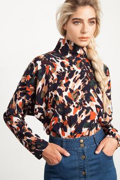 Paint Strokes Blouse   @andwhatelse