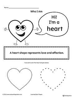 Shape activity worksheet heart