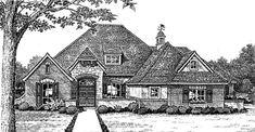 House Plan 66027 | European Tudor Plan with 2701 Sq. Ft., 4 Bedrooms, 4 Bathrooms