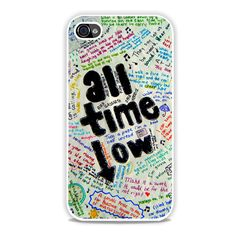 All Time Low Art Lyric Quote iPhone 4, 4s Case