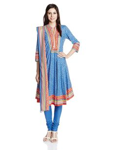 Biba Women's Cotton Self-Print Princess Cut Salwar Suit from Indian Fashion Hub for more info visit @ http://indianfashionhub.wordpress.com/2014/08/23/factors-to-consider-when-you-purchase-womens-salwar-suits-online/