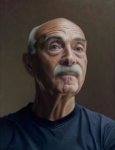 Lambert - 'Portrait of Aad', 2015. Oil on panel, 40 x 50 cm