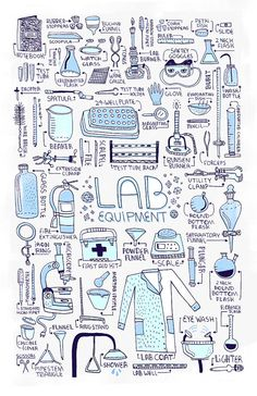 LAB EQUIPMENT art print by Rachelignotofsky on Etsy, $29.00
