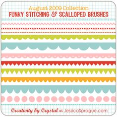 stitching & scallop brushes / crystal wilkerson via jessicasprague.com (just bought these :)