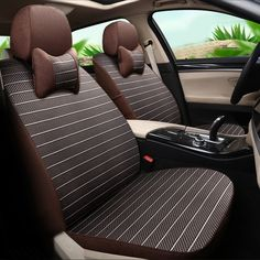 Car Seat Cover Linen & Ice Silk Styling Cover Seat Protector for Porsche Cayenne 2011 Car Seat Covers for Car Seats Cushion Set #Affiliate