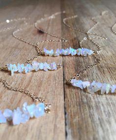 Raw Opal Necklace Opal Necklace Raw Opal Jewelry October