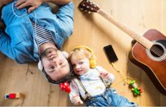 Father and son with smartphone and earphones, listening music. Parenting Fail, Parenting Styles, Gentle Parenting, Short Fathers Day Poems, Fathers Day Messages, Father Son Photos, Father And Son, Writing Prompts For Kids, Kids Writing