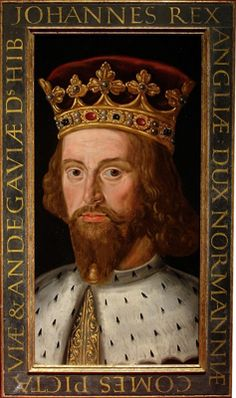 Portrait of King John (1166 - 1216) from a set of eight medieval Kings 1618c.