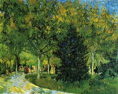 Avenue in the Park, 1888, Vincent van Gogh Size: 92x73 cm Medium: oil on canvas