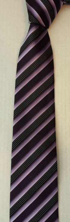 Chereskin men dress neck #tie black and violet stripes visit our ebay store at  http://stores.ebay.com/esquirestore