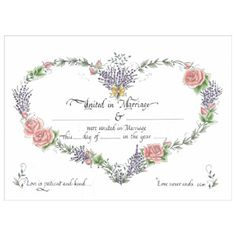 Personalized Custom Marriage Certificate On By Moncoeurproducts