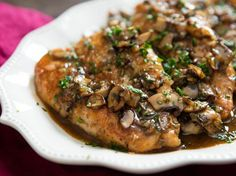 Quick and easy, this chicken Marsala is packed with flavor, thanks to Marsala wine, sautéed mushrooms, shallots, and garlic. The secret to success with this version is to slip extra gelatin into the chicken stock—which helps give the sauce a glaze-like consistency that's just like the best restaurant pan sauces—along with a few other small tricks (hello, soy sauce!).