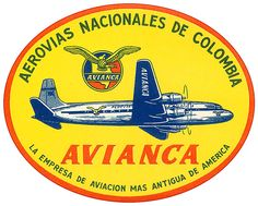 COLOMBIA AVIANCA AIRLINES ~ 1950
