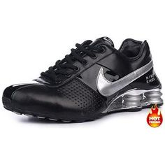 http://www.asneakers4u.com Mens Nike Shox Deliver Black Silver