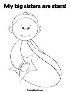 Big Sister Coloring Page | Coloring pages | Pinterest | Cricut and ...