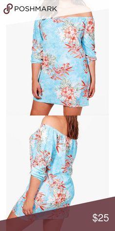 Tropical off should mini Worn once. Boohoo Dresses Mini