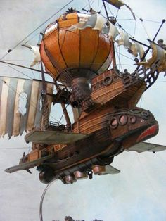 - Flying Steampunk Airship - #steampunk #steampunkart #artwork #airship http://www.pinterest.com/TheHitman14/art-steampunk-%2B/