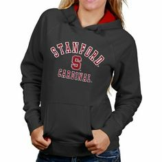Stanford Cardinal Womens Arch Mascot Logo Pullover Hoodie - Cardinal