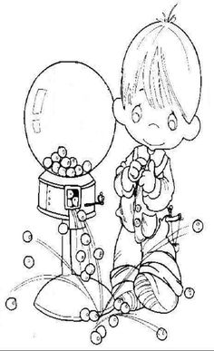 Free Coloring Pages  little boy from my sweetheart house when I was a kid :D
