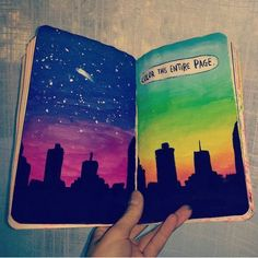 Wreck this journal on We Heart It Kunstjournal Inspiration, Art Journal Inspiration, Drawing Journal, Art Sketchbook, Bullet Journal Ideas Pages, Art Journal Pages, Create This Book, Art Diary, Wreck This Journal