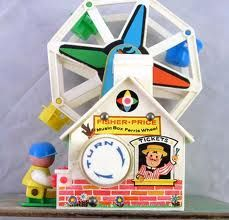 Fisher-Price Ferris Wheel- one of my earliest memories: in my cookie monster dress on the back porch, age 2