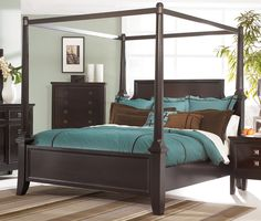 Martini Suite King Size Canopy Bed from Millennium by Ashley Furniture - Tenpenny Furniture $1,083