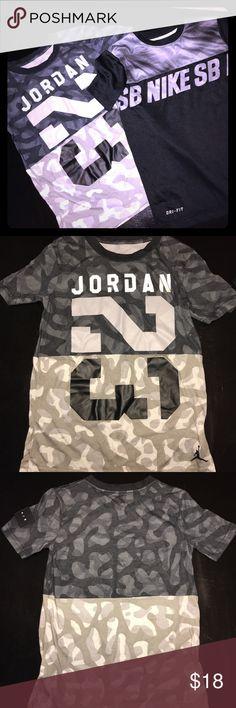 Boys Tshirt bundle Like new condition, boys size Small 8-10 years, one Jordan one Nike Nike Shirts & Tops Tees - Short Sleeve