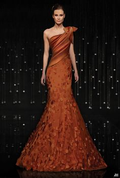 Statuesque asymmetrical evening gown by Armani. -- Grace Ormonde Wedding Style