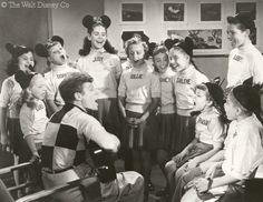 When encouraging theater owners to set up local Mickey Mouse Club chapters in 1930, Walt Disney observed that children have an instinct to band together in groups. Description from originalmmc.com. I searched for this on bing.com/images