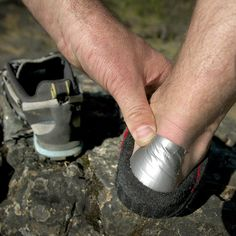 Outdoor hack: Treat a blister with duct tape. Duct tape is the number one most used item in my ultralight first aid kit