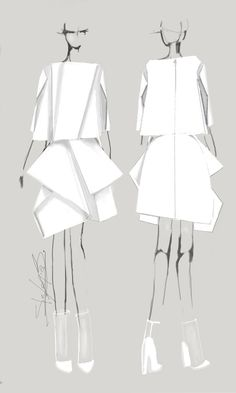Fashion illustration - fashion design sketches // Stefania Belmonte