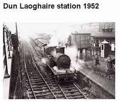 so remember these steam trains at Dun Laoghaire. Michael Church, St Michael, Dublin Ireland, Ireland Travel, Buses And Trains, British Rail, Dublin City, Wonderful Places, Old Photos