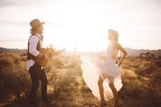 One golden evening, a nomad and his gypsy escaped to Joshua Tree to elope in the desert...
