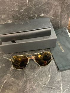 bbb5d5d13ded Randolph Engineering Aviator AF135 23k Gold Sunglasses  fashion  clothing   shoes  accessories